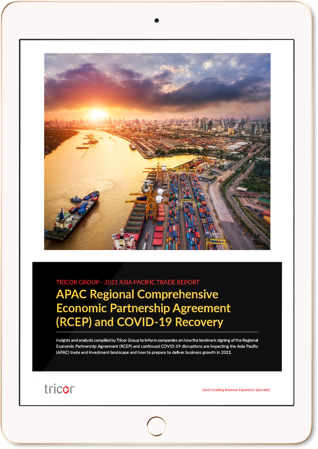 APAC Regional Comprehensive Economic Partnership Agreement (RCEP) and COVID-19 Recovery Ipad Image