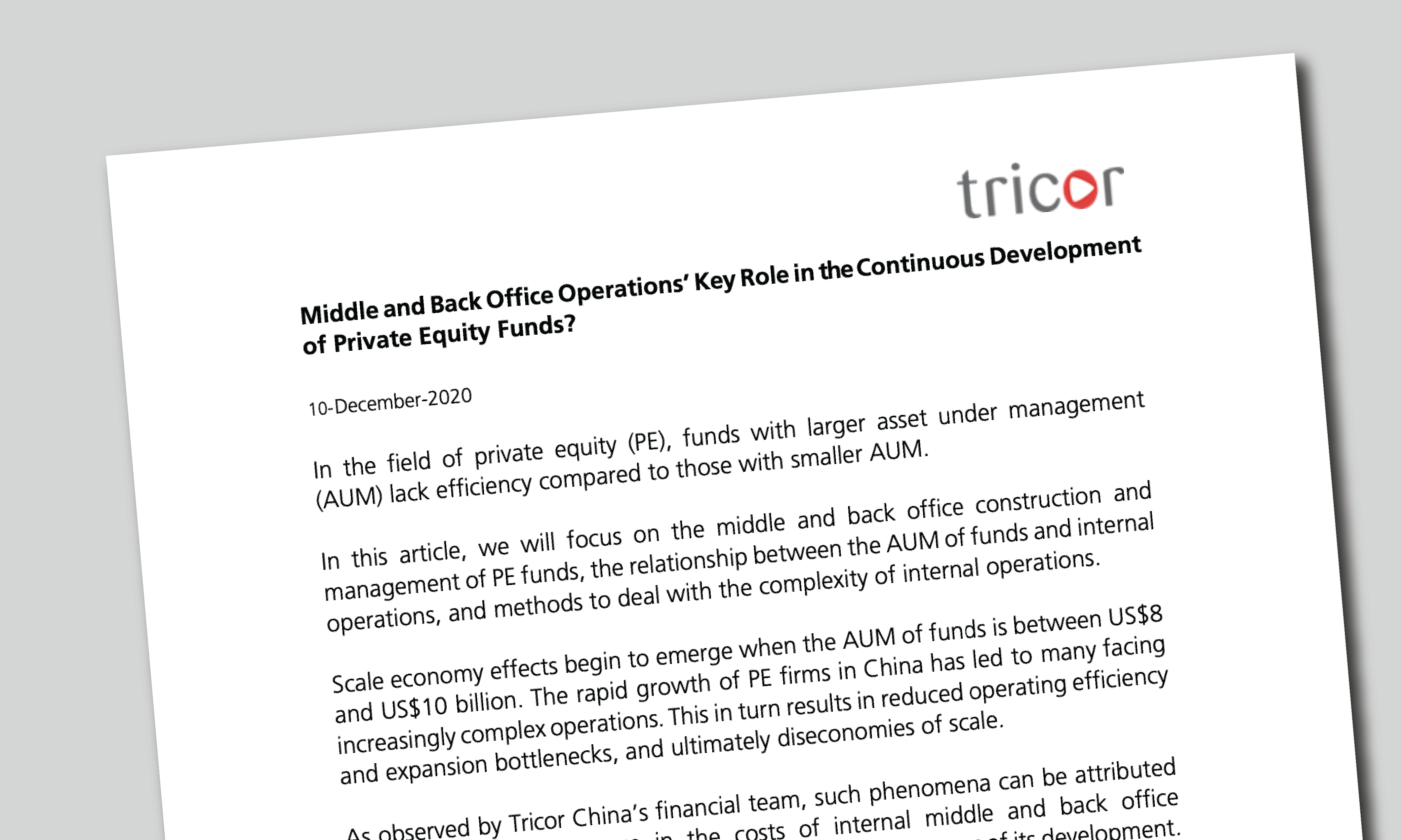 Why Middle and Back Office Operation Plays the Key Role in Enduring Development Journey of PE Funds [EN]