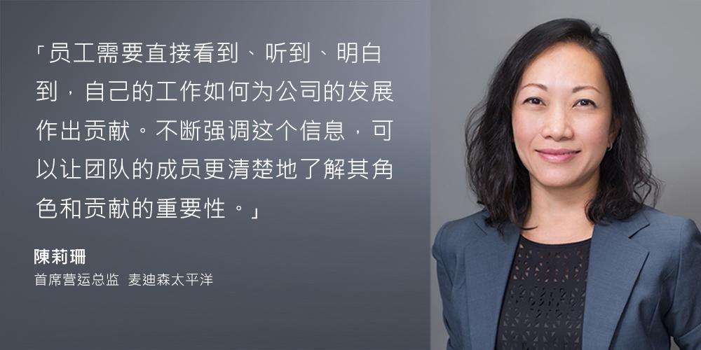 陳莉珊 - 首席营运总监 - 麦迪森太平洋