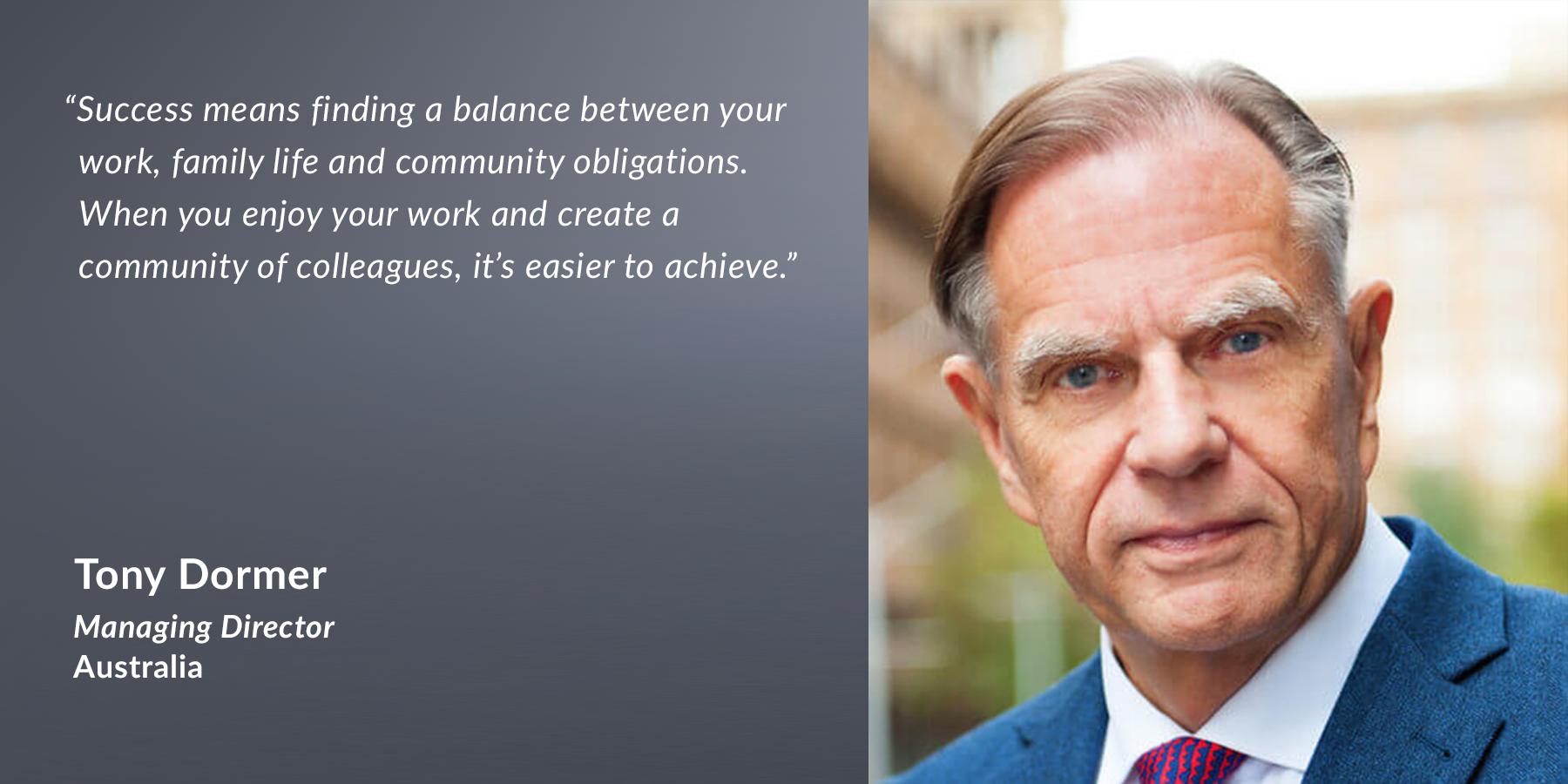 Tony Dormer, Managing Director, Australia