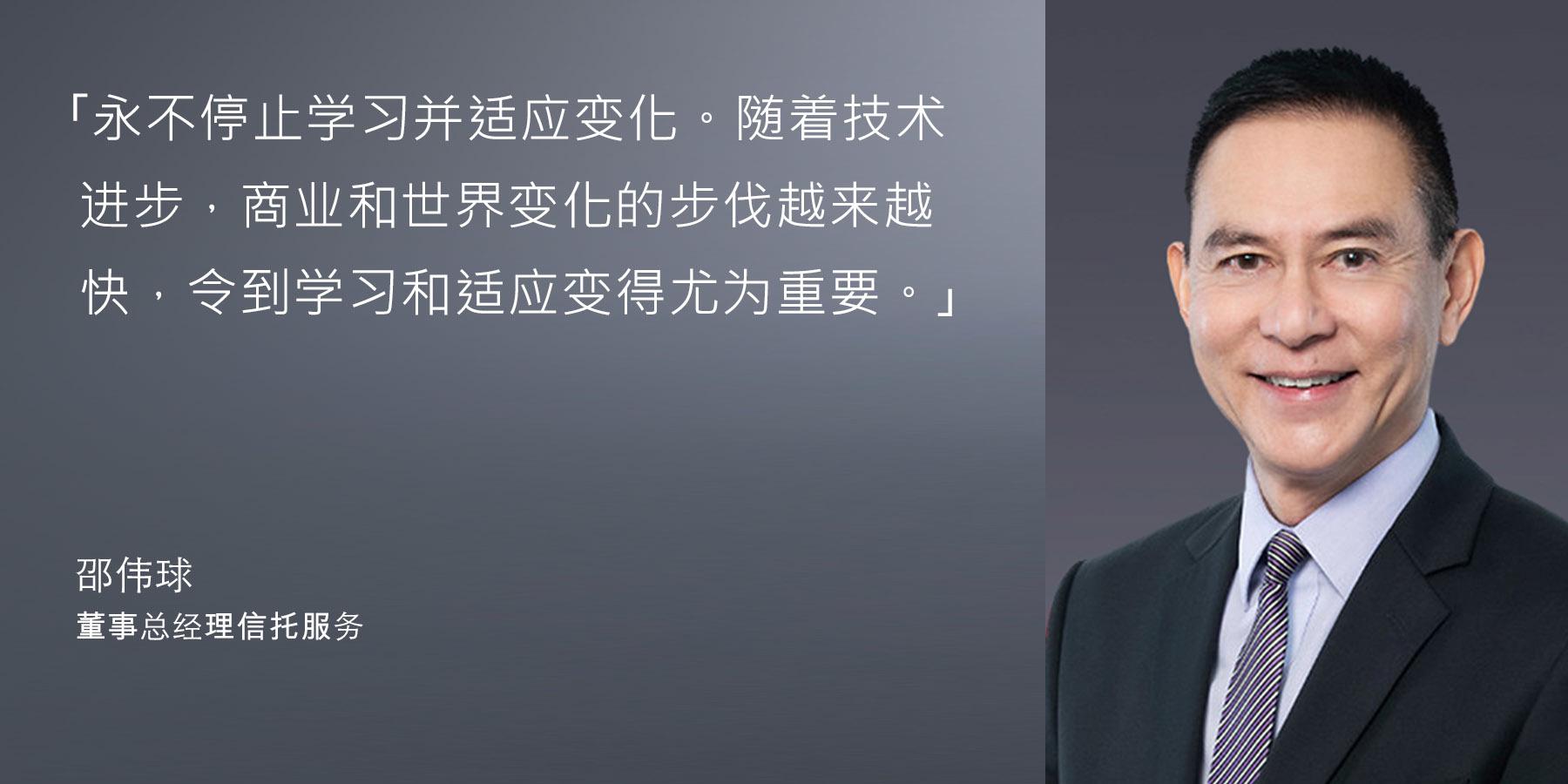 邵伟球 - 董事总经理信托服务