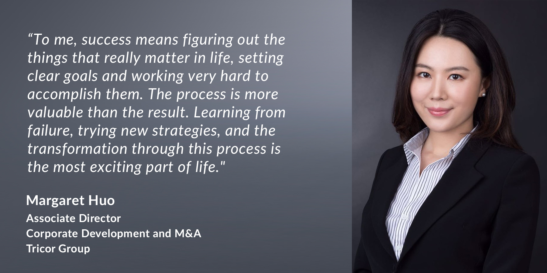 Margaret Huo - Associate Director of Corporate Development and M&A, Tricor Group