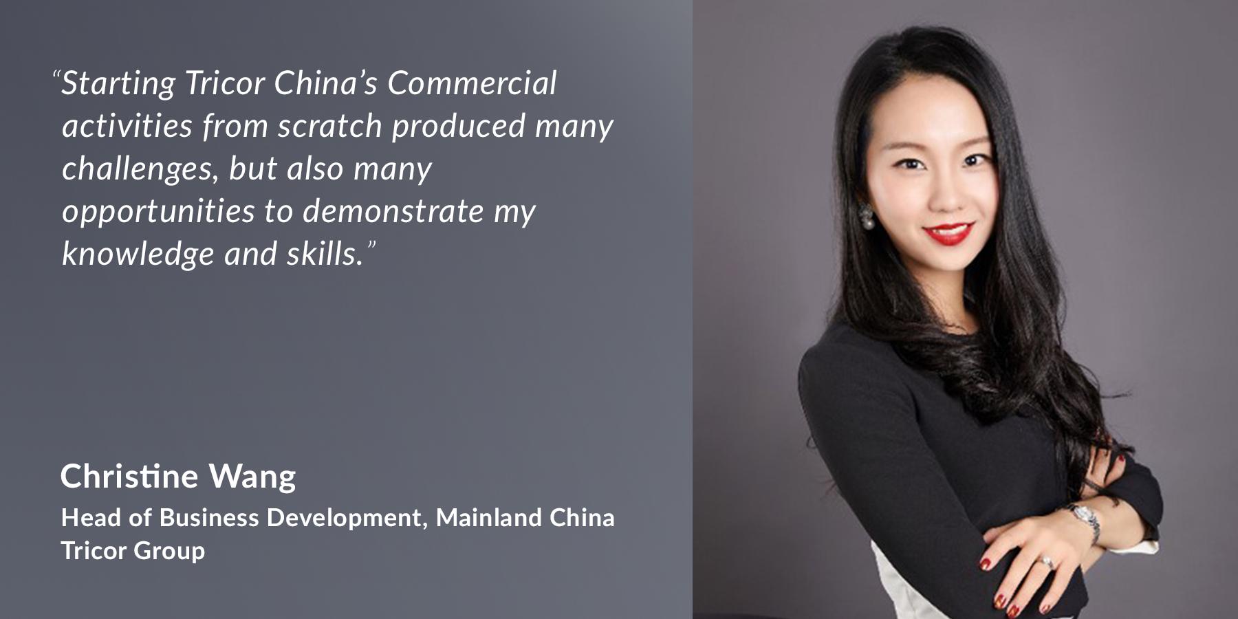 Christine Wang - Head of Business Development - Tricor China