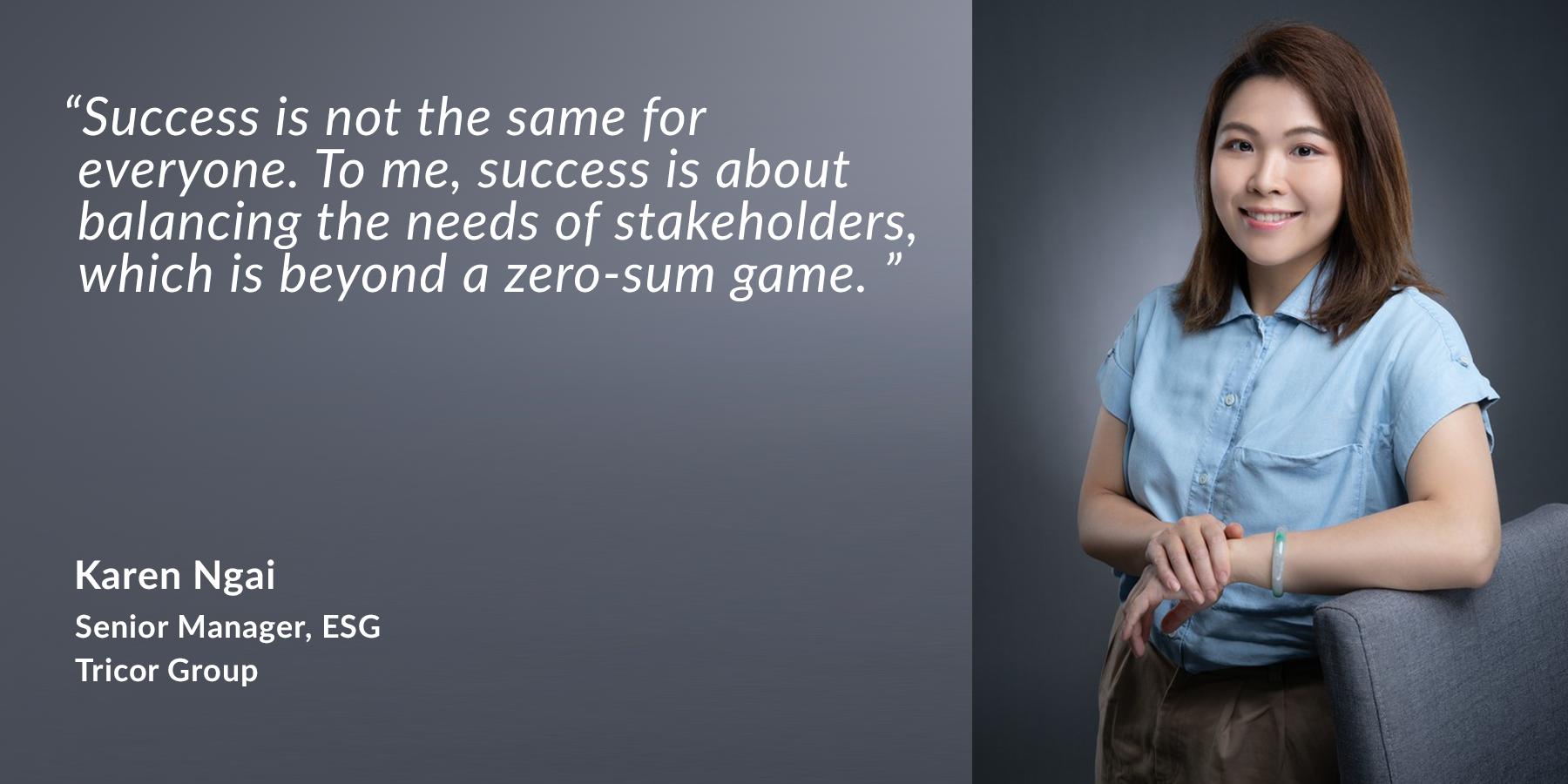 Karen Ngai - Senior Manager, ESG