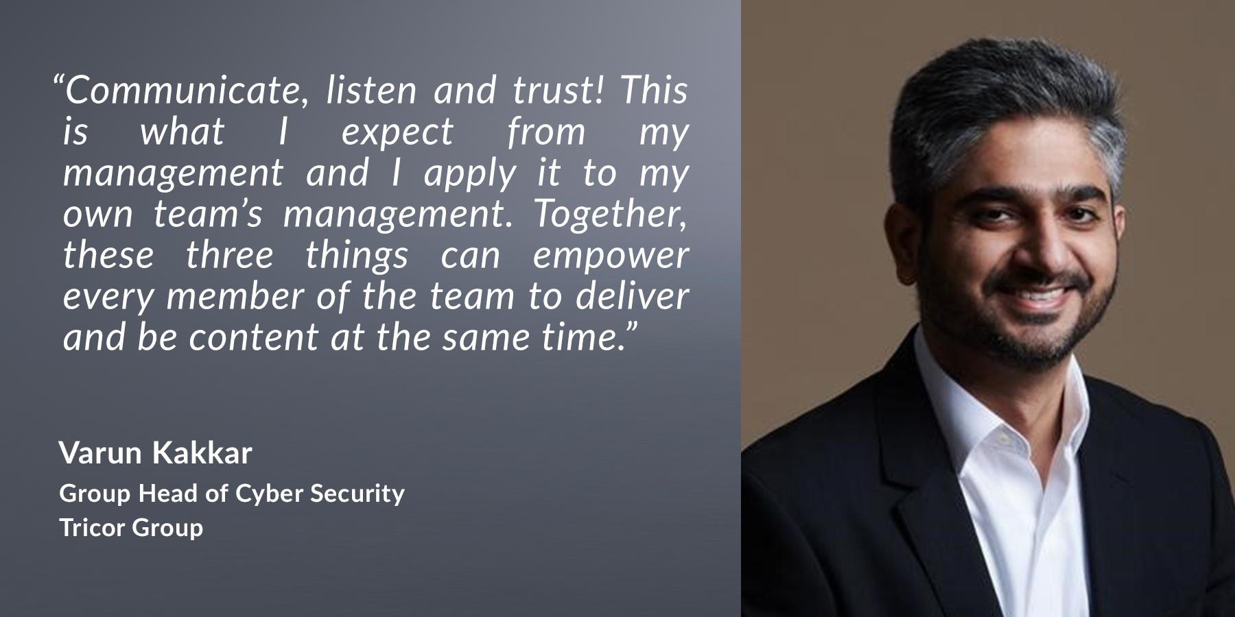 Varun Kakkar - Group Head of Cyber Security, Tricor Group
