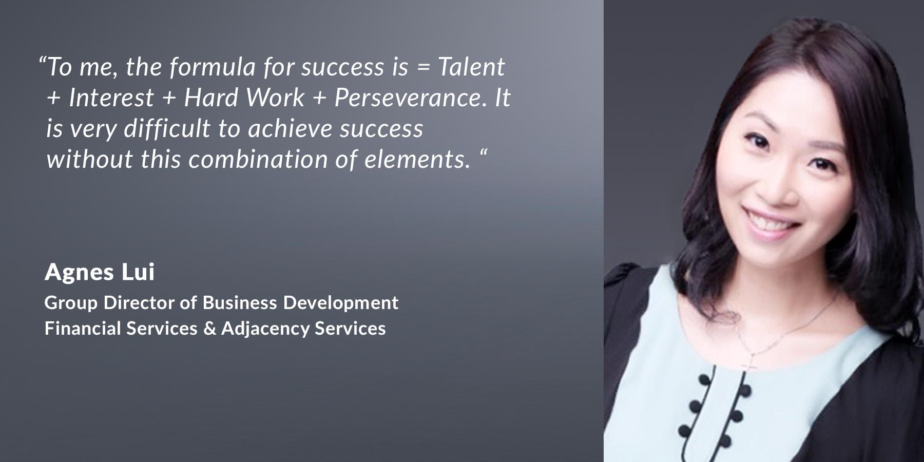 Agnes Lui – Group Director of Business Development, Financial Services & Adjacency Services