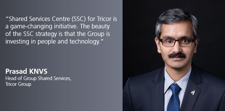 Prasad KNVS, Head of Group Shared Services, Tricor Group